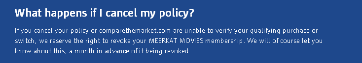 Cancel policy - Meerkat Movies